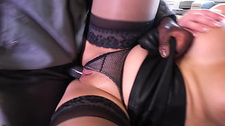 CLEMENTINE MARCEAU in black stockings gets fucked hard