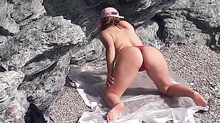 Outdoor Pee Sex at the beach