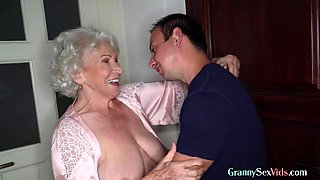 Old hairy granny enjoys pussyfuck