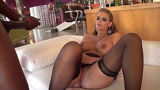 Horny pornstar Phoenix Marie in best stockings, cunnilingus sex clip