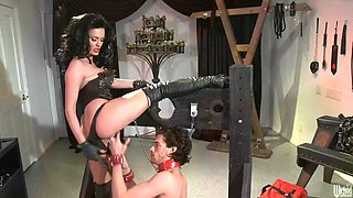 mistress alektra blue is properly butt fucked by her slave