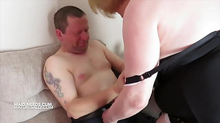 Maid Sally has fun with her boss