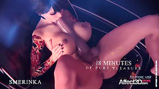 Scifi animation with futanari girls and their favorite sex toys