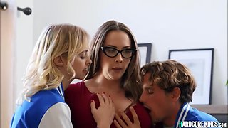 18 Years Old, Big Breasts And Tyler Nixon - College Couple Banging Mommy Professor