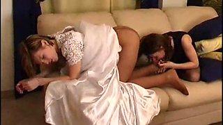 Bride and bridesmaid pantyhose 1