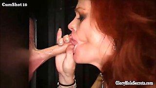Horny sluts sucking off strangers in gloryhole