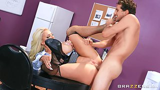Office sex affair with cheating blonde wife Nicolette Shea