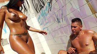 Mind-blowing rimjob with slutty Gina Jolie and Jazz Duro