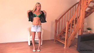 Hot Czech bitches posing on a casting