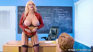 Nicolette Shea - The Sexiest School Teacher With Big Boobs Fucks A Stud In Detention