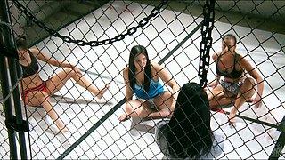 Mix fighters Jassica Drake, Ariel X, Mackenzee Peirce, Celeste Star and Adrianna Luna kinky orgy