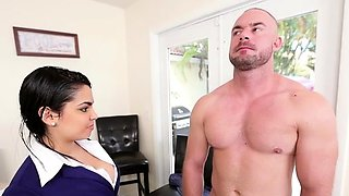 Kinky floozy Ada S with round natural tits banged by man