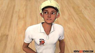 GIANTESS coach - 3D Hentai School Porn EngDubbed
