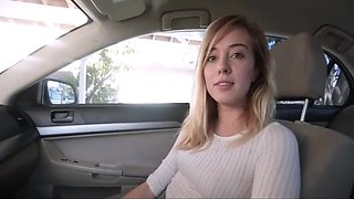 Step sister fucking with brother in car
