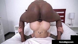 Step MILF Savana Styles Milks Her Big Cock 'Son' Rome Major!