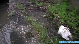 PublicAgent: Outdoor blowjob and fucking with young Czech babe