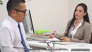 Ai Kamijou - Office Bitch Gets A Huge Cock In A Wet Pussy