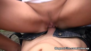 Dirty Tina in Publicly Double Teamed - MagmaFilm