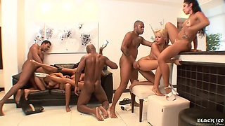 Phat Azz Brazilian Group Sex - Interracial Porn