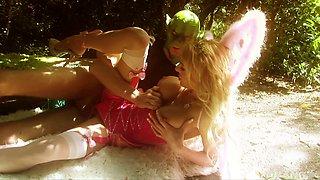 Sweet blonde fairy Antonia Deona screwed in the forest
