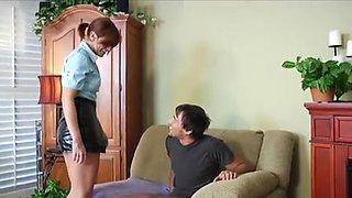 Female Cop Punishes Innocent Man WF