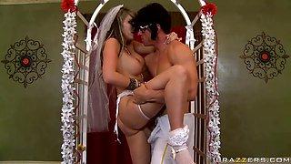 voluptuous bride takes a big dick