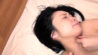Wicked japanese playgirl amazes with slutty footjob