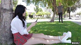 WANKZ- Schoolgirl with Great Ass Gets Creampie