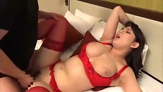 Husband Catches Wife Cheating Red Lingerie