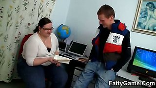 Sex with a slutty fat teacher
