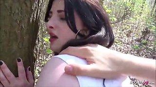German college teen elisa seduce to fuck in park in berlin