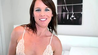 Stepmother grabs the cock of her stepson