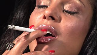 Busty milf smokes while being fucked in crazy modes