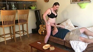 Hairy mature wife plays with her pussy, then has a piss