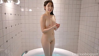 Korean girl with perfect body is super cute