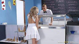 Kat Dior enjoys unforgettable quickie with handsome ice cream man