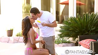 Captivating juggy babe with deep throat Peta Jensen gets laid