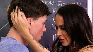 Sniffing my teacher panties and get caught