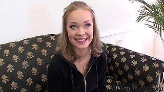 18yo Blonde Enjoys Her First Sex Casting