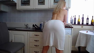 Sexy Mature in kitchen