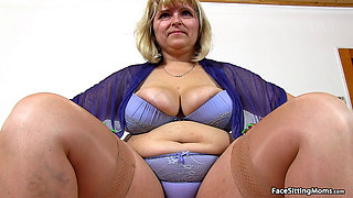Mature Anna Face Sitting on her Slave