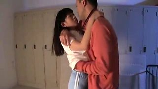 Babe from Japan with great body is having sex with hot pal