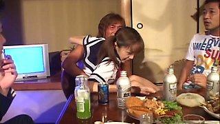 Drunk gangbang  with  petite Japanese girl Nao Oikawa