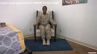 Soldier Gets Prick - Interracial