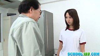 Skinny Sayaka Otonashi gets drilled by horny teacher