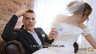 HUNT4K. After wedding poor groom sells partners pussy