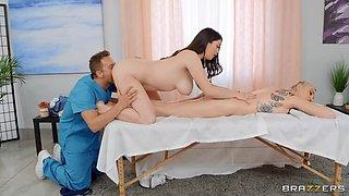 BRAZZERS Sensual Massage escalates into a Threesome