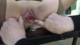 Champagne bottle in big pussy