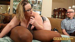 BBW Wife Bunny De La Cruz Handles Big Black Dick With Hubby