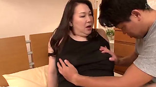 Japanese slut getting fucked by her son-in-law
